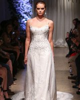 matthew christopher 2018 beaded spaghetti strap wedding dress