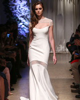 matthew christopher 2018 cutout sheath wedding dress