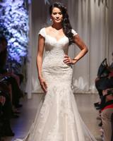 matthew christopher 2018 cap sleeve sweetheart lace wedding dress