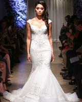 matthew christopher 2018 cap sleeve sweetheart lace beaded wedding dress
