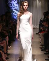 matthew christopher 2018 long sleeve sheer  wedding dress