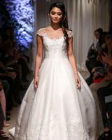 matthew christopher 2018 lace detail ballgown wedding dress