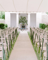 peony matthew england wedding ceremony aisle