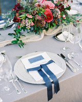 samantha michael wedding placesetting