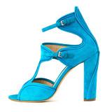 Monique Lhuillier blue pumps