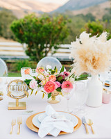 stephanie jared wedding place setting