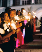 stephanie nikolaus wedding sparklers