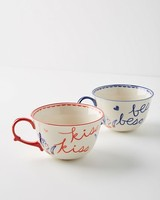 Kisses Mugs, Set of Two