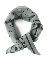 gray Heart Bandana