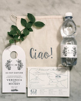 veronica mickias wedding italy welcome bags