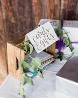 wedding gift tables rachel solomon photography wooden crate