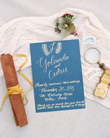 yolanda cedric wedding invite