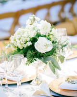 Affordable wedding centerpieces that still look elevated martha white roses flowers wedding centerpieces junglespirit Gallery