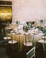 after party decor metallic table setting