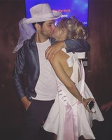 Anna Camp and Skylar Astin at Bachelor-Bachelorette Party