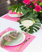 Tropical-Themed Dinner Party