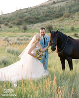 beth behrs michael gladis wedding couple horse sylvie gil