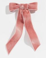 bride gift guide pink velvet bow barrette