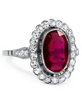 Brilliant Earth Margalit Ruby Engagement Ring with a Round Diamond Halo