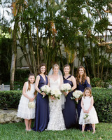 chelsea conor wedding bridesmaids flowergirls and bride
