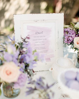 dessert menu ideas watercolor lavender display