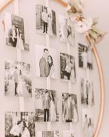 metal hoop photo display