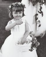 emer cooper wedding wisconsin flower girl