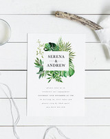 Paper Minx Design Tropical Engagement Party Invitation