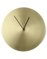 modern gold wall clock