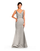 grey silver bridesmaid dresses bari jay 1832 dress