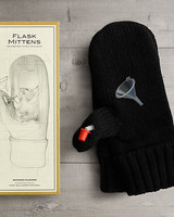Gifts for groomsmen flask mittens