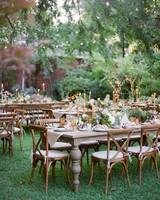 outdoor reception tables
