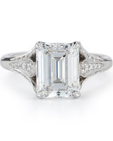 McTeigue and McClelland Emerald-Cut Engagement Ring