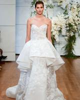 Monique Lhuillier Ruffle Wedding Dress
