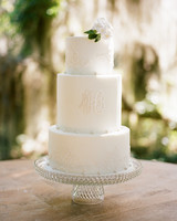 monogram wedding cake davy whitener minette rushing