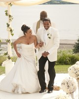 Jumping the broom wedding dress
