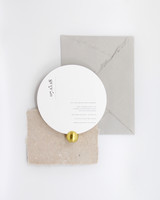 wedding invitation negative space round die-cut