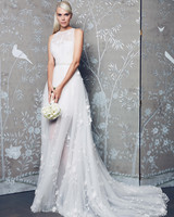 Legends Romona Keveza Sheer Train Wedding Dress Fall 2018