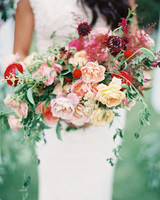 Blush and Red Wedding Bouquet
