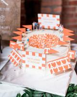 stadium shaped grooms cake
