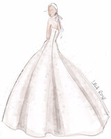 lela rose wedding dress sketch