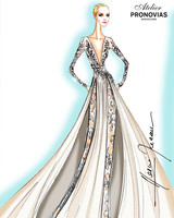 pronovias wedding dress sketch