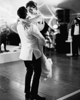 stephanie nikolaus wedding groom lifts bride