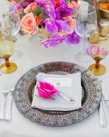 Bright, Colorful Floral Table Setting