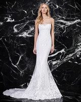 victoria kyriakides spaghetti strap trumpet wedding dress spring 2018