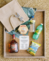 abbey jeffrey wedding welcome bags with jamaican goods