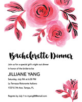 bachelorette party invites paper source pink blooms