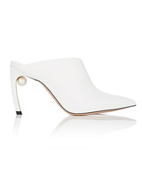 white bridal booties nicholas kirkwood mira leather mules