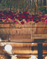 floral canopy wedding reception