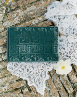 velvet wedding guest book